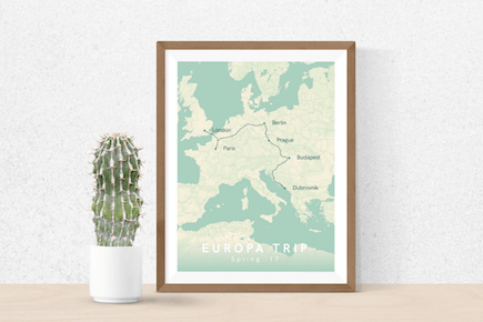 Europe Trip Poster