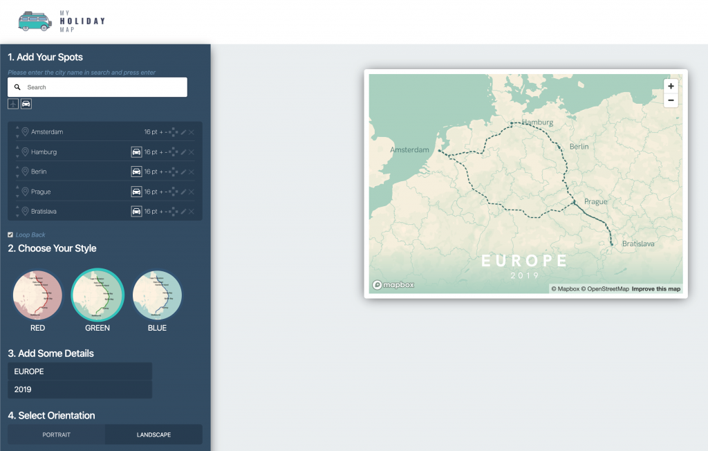 Landscape Travel Map