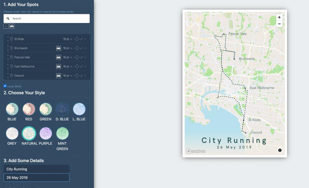 Running Map Melbourn