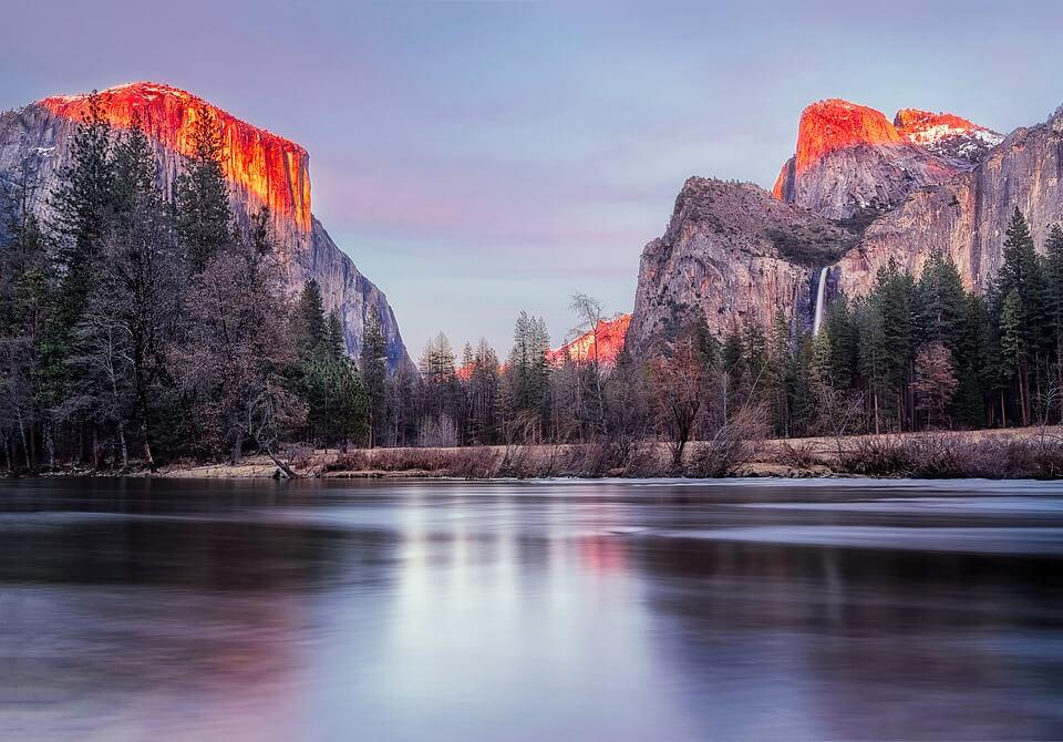 Travel Map USA Yosemite